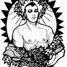 Dionysus - Design 3 (Black) by Lori Elaine Campbell
