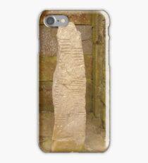 Ogham stone iPhone Case/Skin