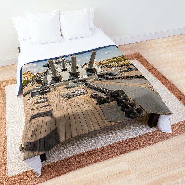 deck of a battleship Comforter