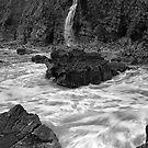 coastal waterfall by Tony Middleton