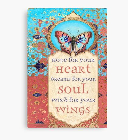 Hope for Your Heart, Dreams for Your Soul... Canvas Print