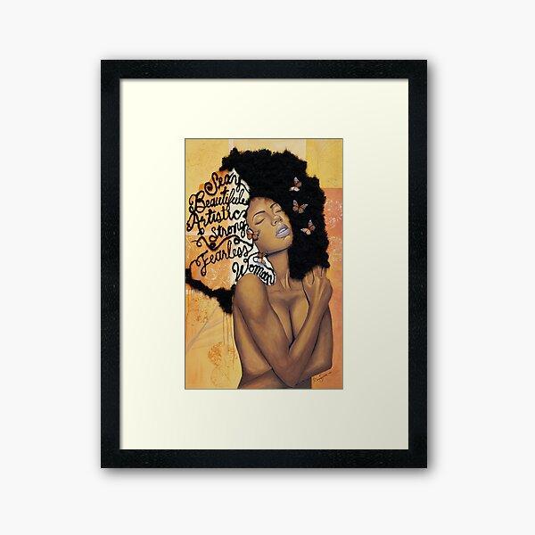 Melanin Absorbs Light Framed Art Print