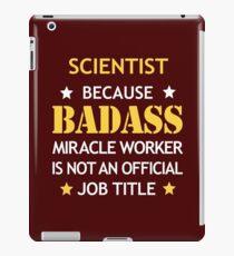 Scientist Badass Birthday Funny Christmas Cool Gift iPad Case/Skin