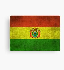 Old and Worn Distressed Vintage Flag of Bolivia Canvas Print