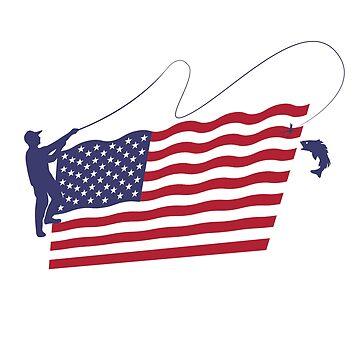 Fly Fishing US Flag by Diardo