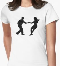 Swing dance Women's Fitted T-Shirt