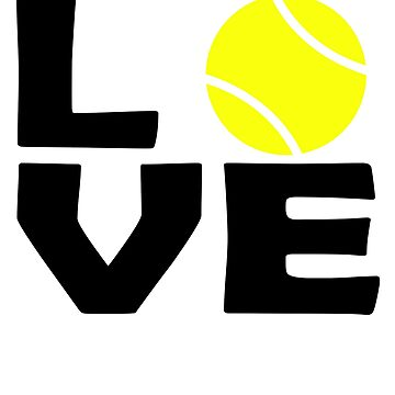 Tennis Love ball tennisplayer by PM-TShirts