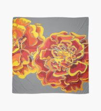 Marigolds in Burnt Orange and Grey Floral Design by Hxlxynxchxle Scarf
