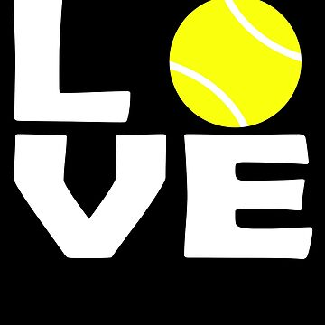 Love Tennis ball player by PM-TShirts