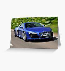 The Audi R8 V10 .... Greeting Card