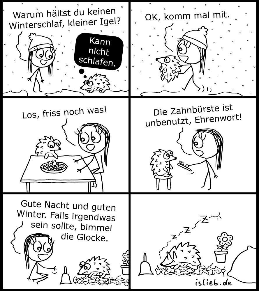 Winterschlaf islieb Comic von islieb