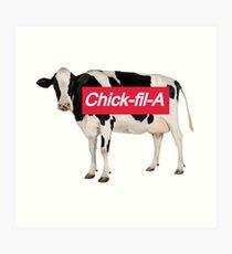 Chickfila Cow Art Print