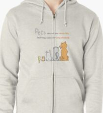 Pets Are Life! Zipped Hoodie