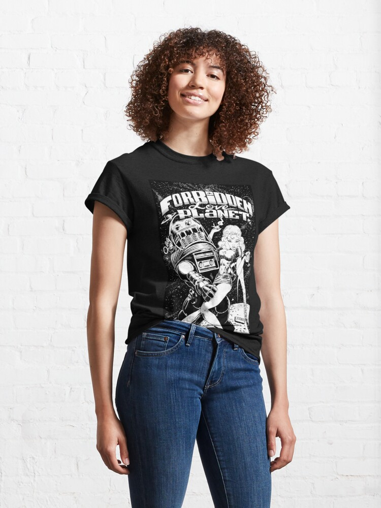 Alternate view of FORBIDDEN LOVE PLANET Classic T-Shirt