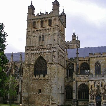 Exeter Cathedral, Side View by lezvee