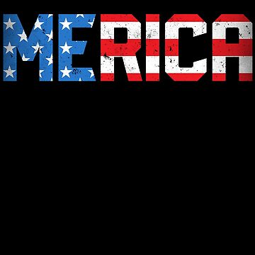 Merica 4th of July T shirt American Flag USA Kids Boys Girls by LiqueGifts