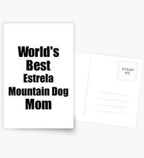 Estrela Mountain Dog Mom Dog Lover World's Best Funny Gift Idea For My Pet Owner Postkarten