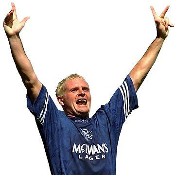 Glasgow Rangers Legend Gazza by trueblueapparel