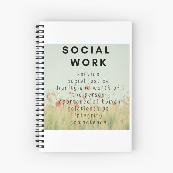 SOCIAL WORKER WITH CODE OF ETHICS ON A SERENE BACKGROUND Spiral Notebook