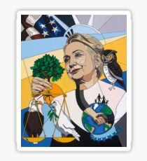 In Honor of Hillary Sticker