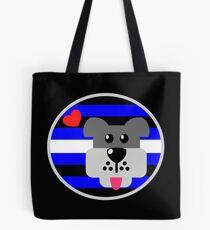 Leather Pup Pride  Tote Bag