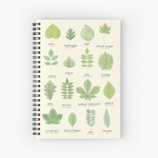 Leaf ID Chart Spiral Notebook