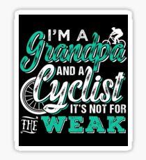 Grandpa and Cyclist Sticker caa624069