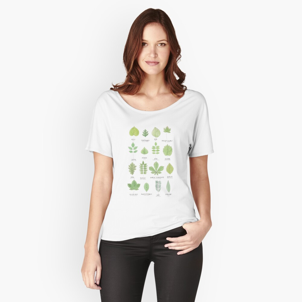 Leaf ID Chart Relaxed Fit T-Shirt