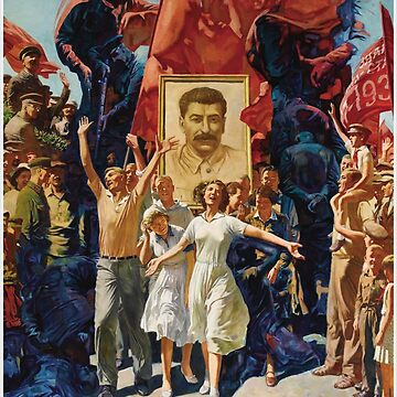 ALEKSANDR DUDIN, Russian, 20th Century, Demonstration, Dictatorship, diktatura, poster, modern art, people, art, painting, group, god, illustration, color image, males, women, men, imagination by znamenski