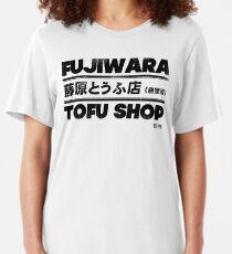Initial D - Fujiwara Tofu Shop Tee (Black) Slim Fit T-Shirt
