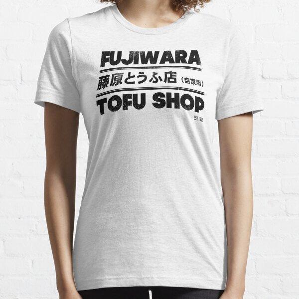 Initial D - Fujiwara Tofu Shop Tee (Black) Essential T-Shirt