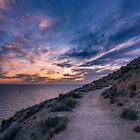 Ruta de la Costa at Sunset by Ralph Goldsmith