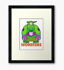 I Love Monsters Framed Print
