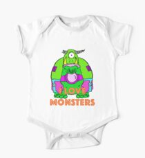 I Love Monsters One Piece - Short Sleeve