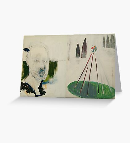 selfportrait in nature Greeting Card