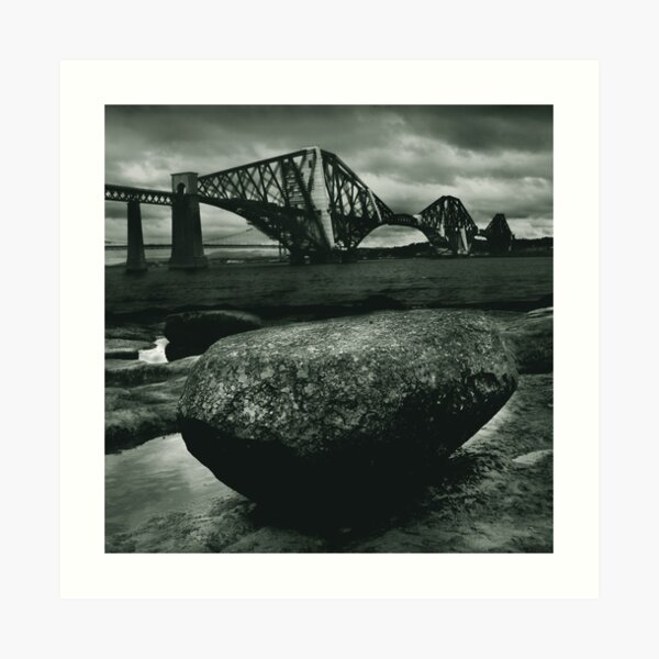 Big Rock Big Bridge Art Print