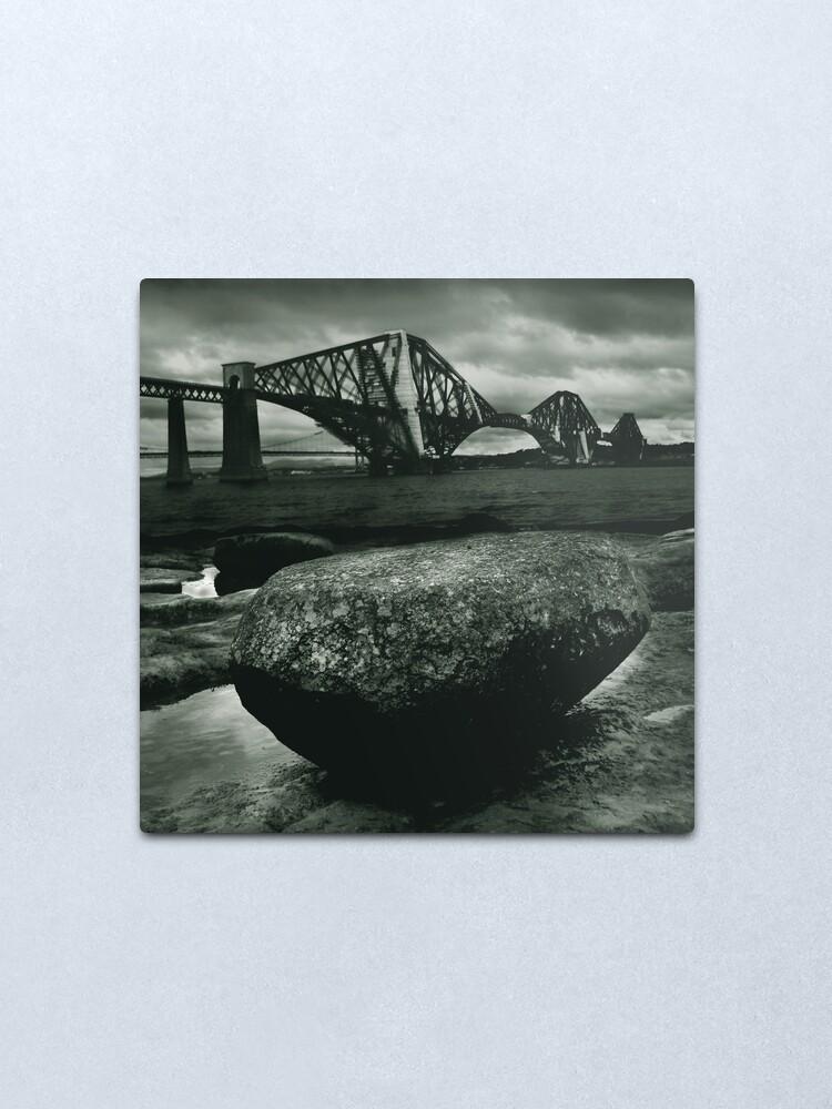 Alternate view of Big Rock Big Bridge Metal Print