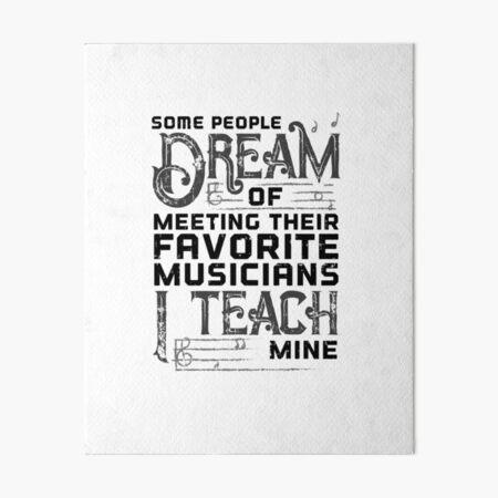 Music Favorite Teacher Shirt Art Board Print