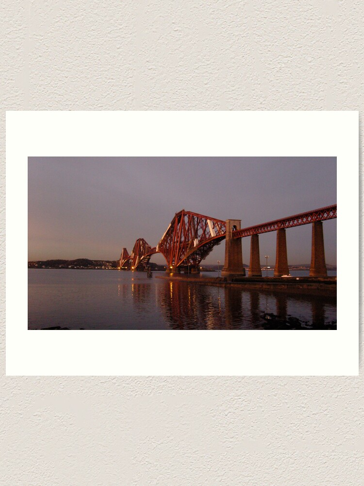 Alternate view of Red Bridge Sunset Art Print