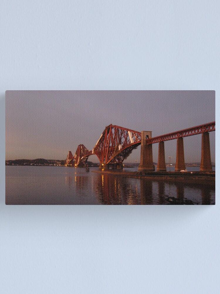 Alternate view of Red Bridge Sunset Canvas Print