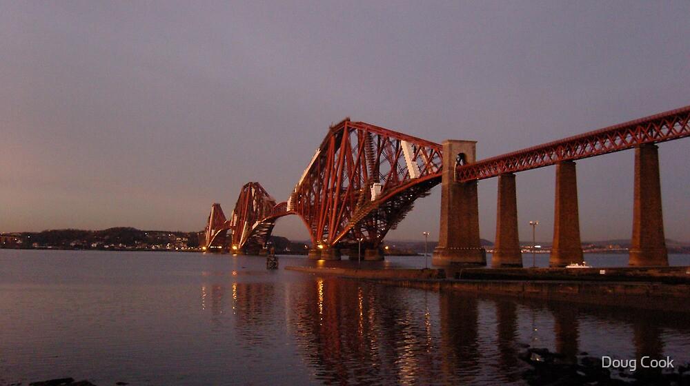Red Bridge Sunset by Doug Cook