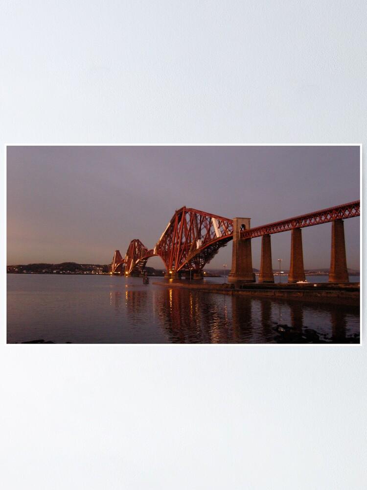 Alternate view of Red Bridge Sunset Poster