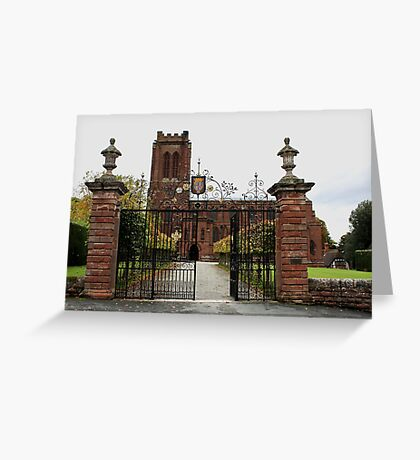 St. Mary's Church, Village of Eccleston, Nr. Chester UK Greeting Card