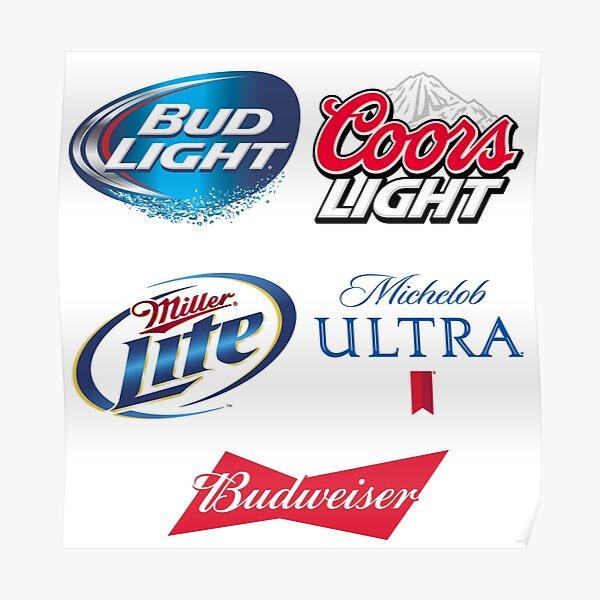 16 Bud Rocks America   Beer Coasters