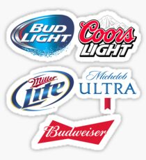 Ultimate American Beer Stickers - Great Fathers Day Gift for the Cooler or Fridge Sticker