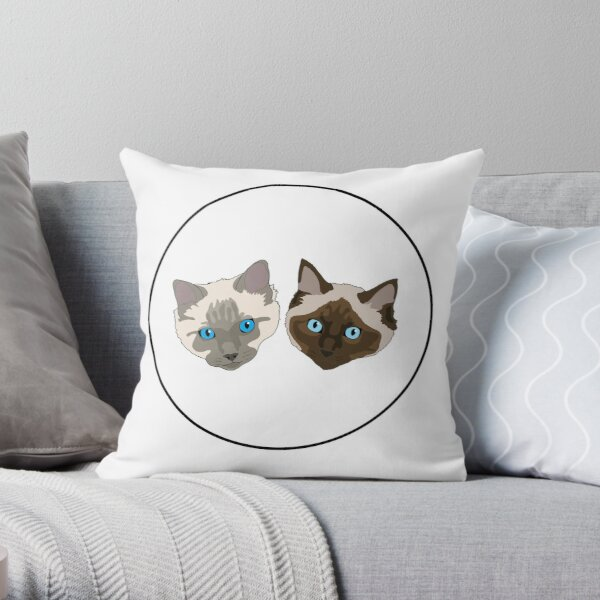 Sylvester and Emilio Ragdoll Cats Throw Pillow