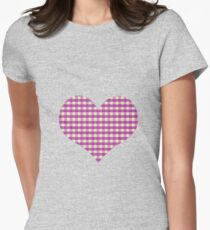 Comforting Grid Women's Fitted T-Shirt