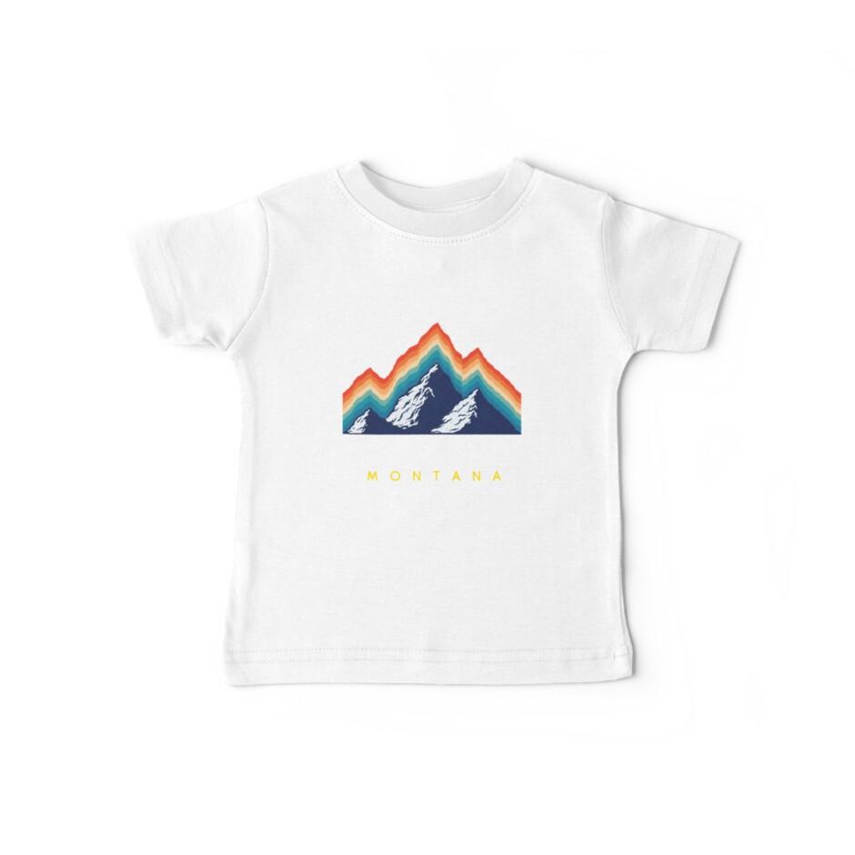 Big Sky Montana - USA Ski Resort 1980er Jahre Retro Kollektion Shirt von pacomerch