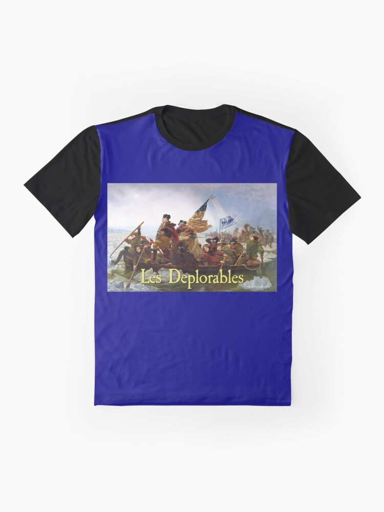 Alternate view of Les Deplorables Crossing the Delaware Graphic T-Shirt