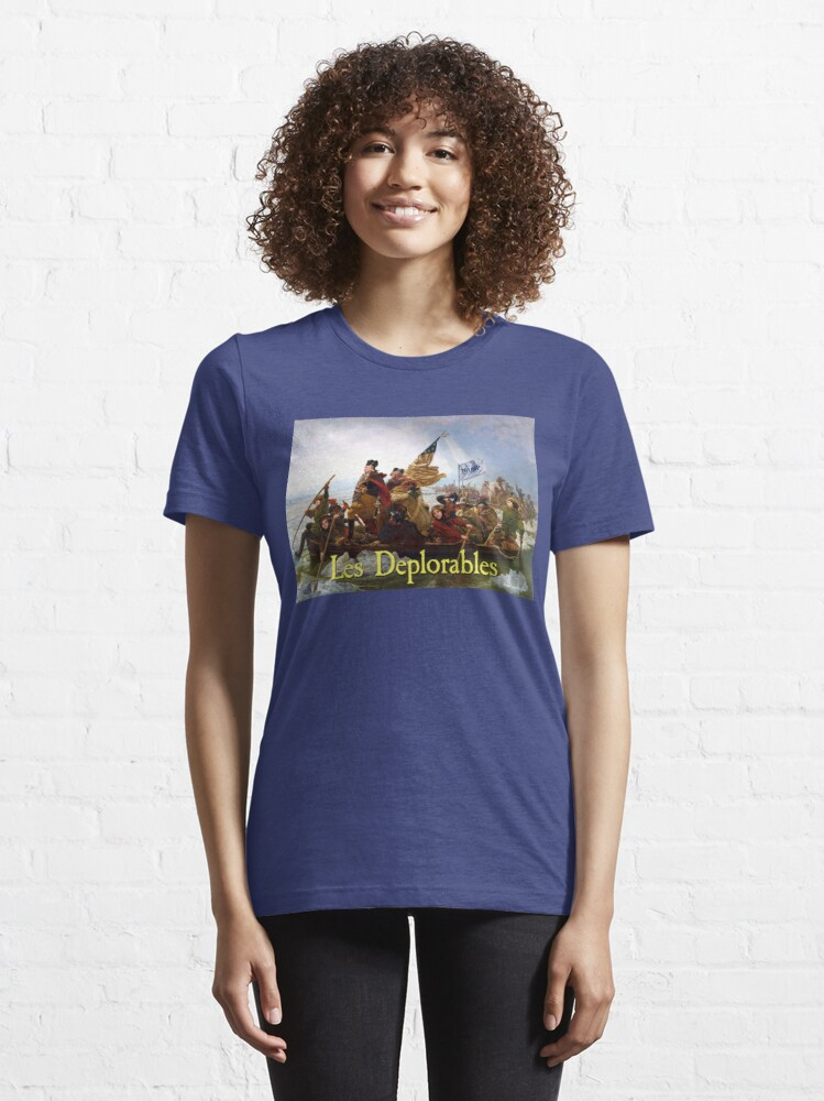 Alternate view of Les Deplorables Crossing the Delaware Essential T-Shirt